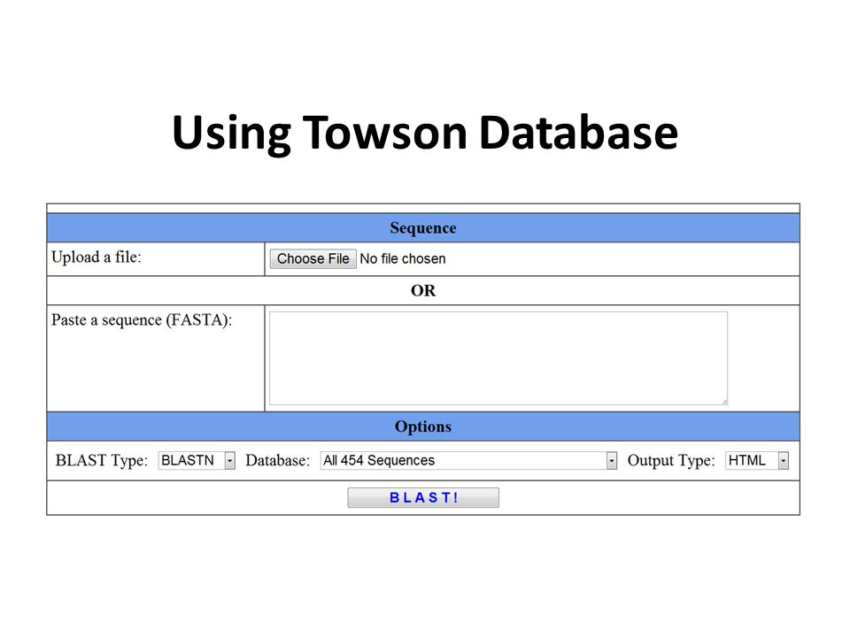Using Towson Database