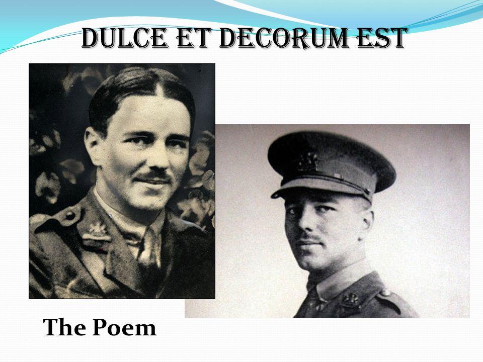 Dulce et Decorum Est The Poem