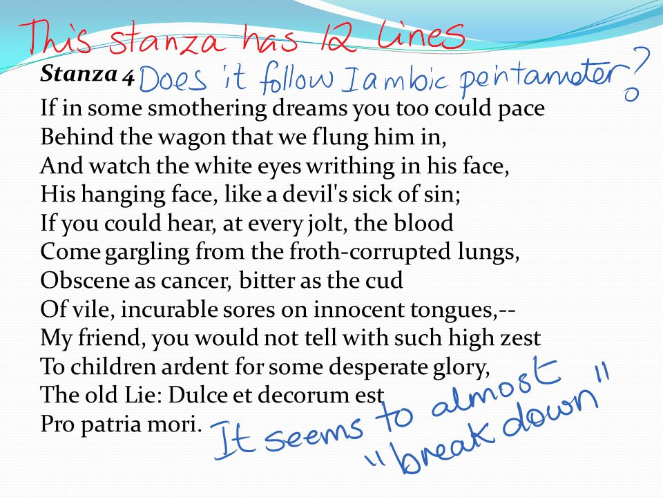 Are there any examples of Simile in this stanza.