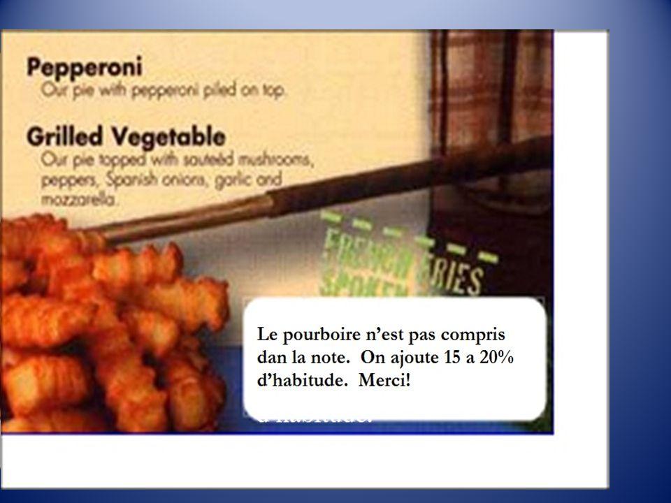 Non, regardez l'étiquette. (No, see the label) ''Le pourboire n'est pas compris dans la note.
