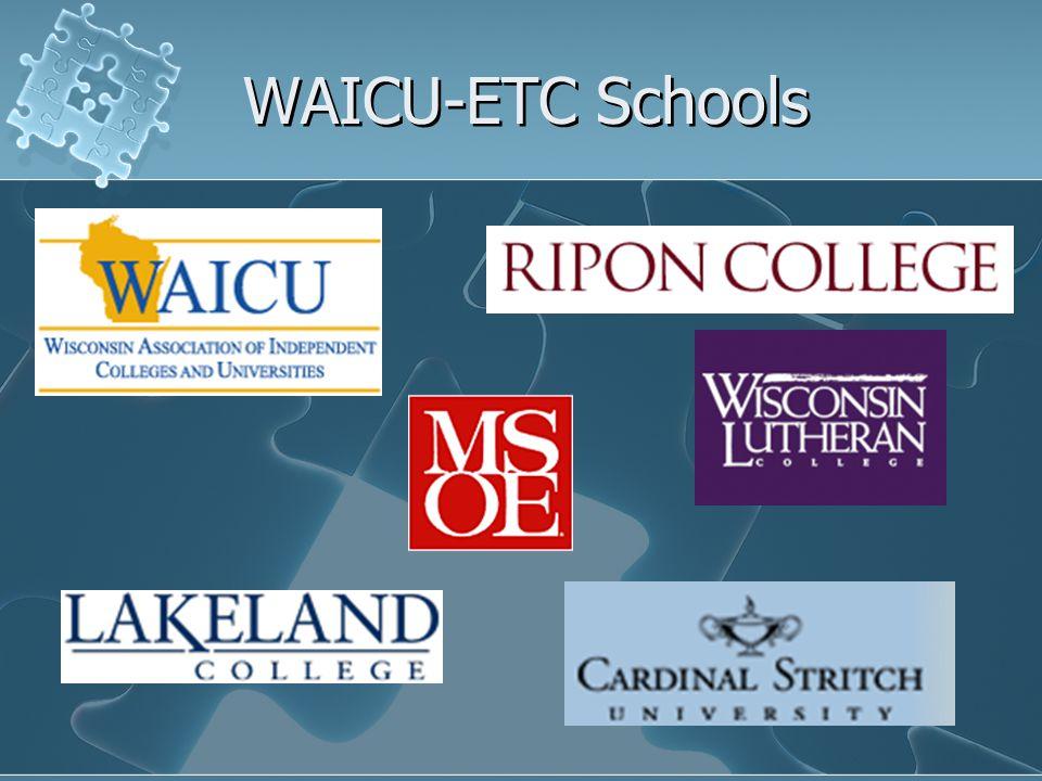 WAICU-ETC Schools
