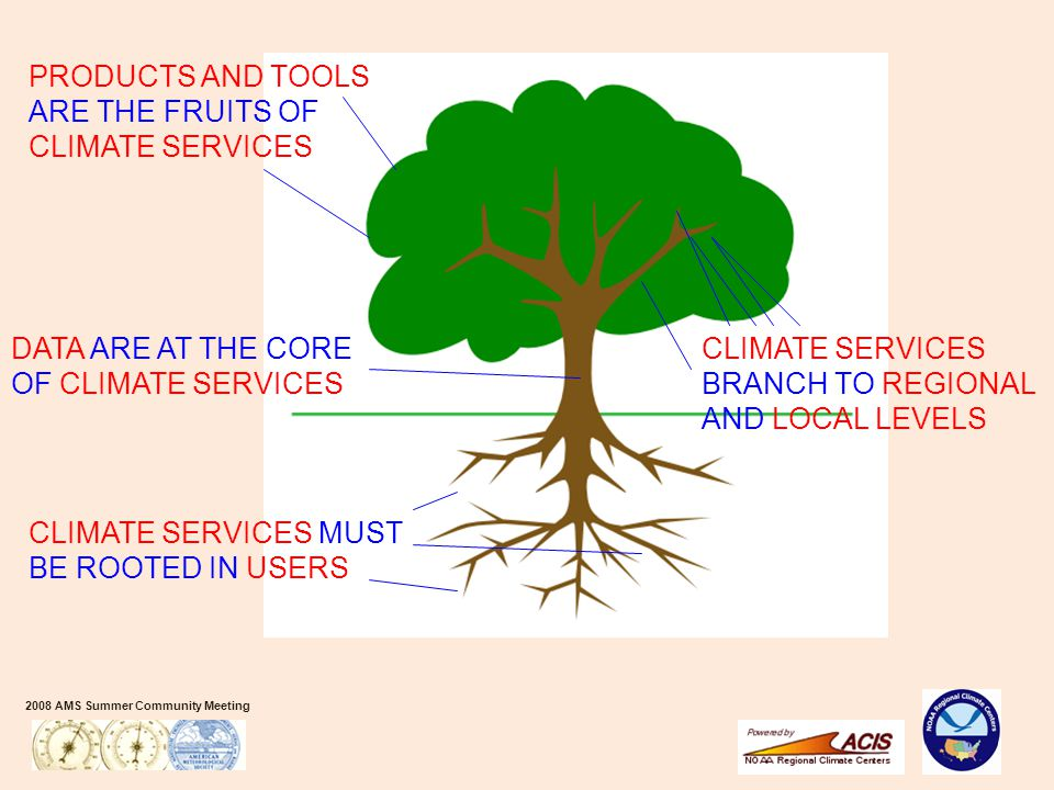 2008 AMS Summer Community Meeting CLIMATE SERVICES MUST BE ROOTED IN USERS DATA ARE AT THE CORE OF CLIMATE SERVICES CLIMATE SERVICES BRANCH TO REGIONA