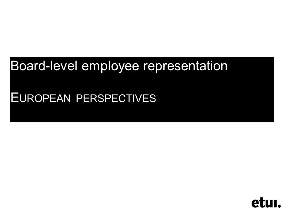 alineconchon © etui (2012) Board-level employee representation in Europe and Denmark 4 1.