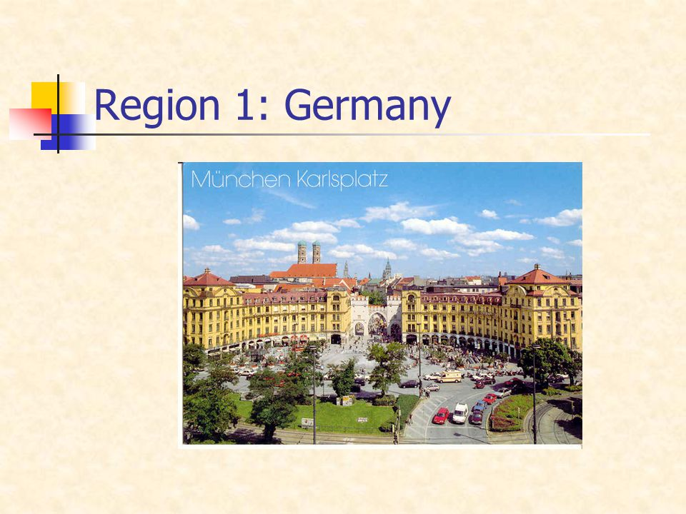 Region 1: Germany