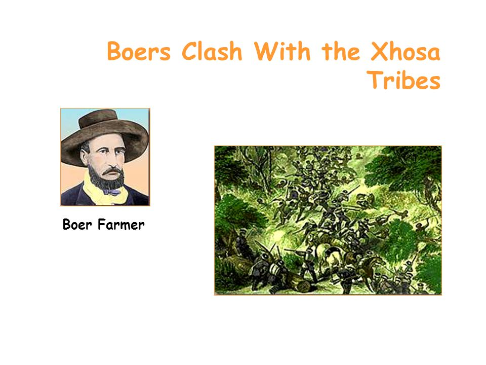 Boers Clash With the Xhosa Tribes Boer Farmer