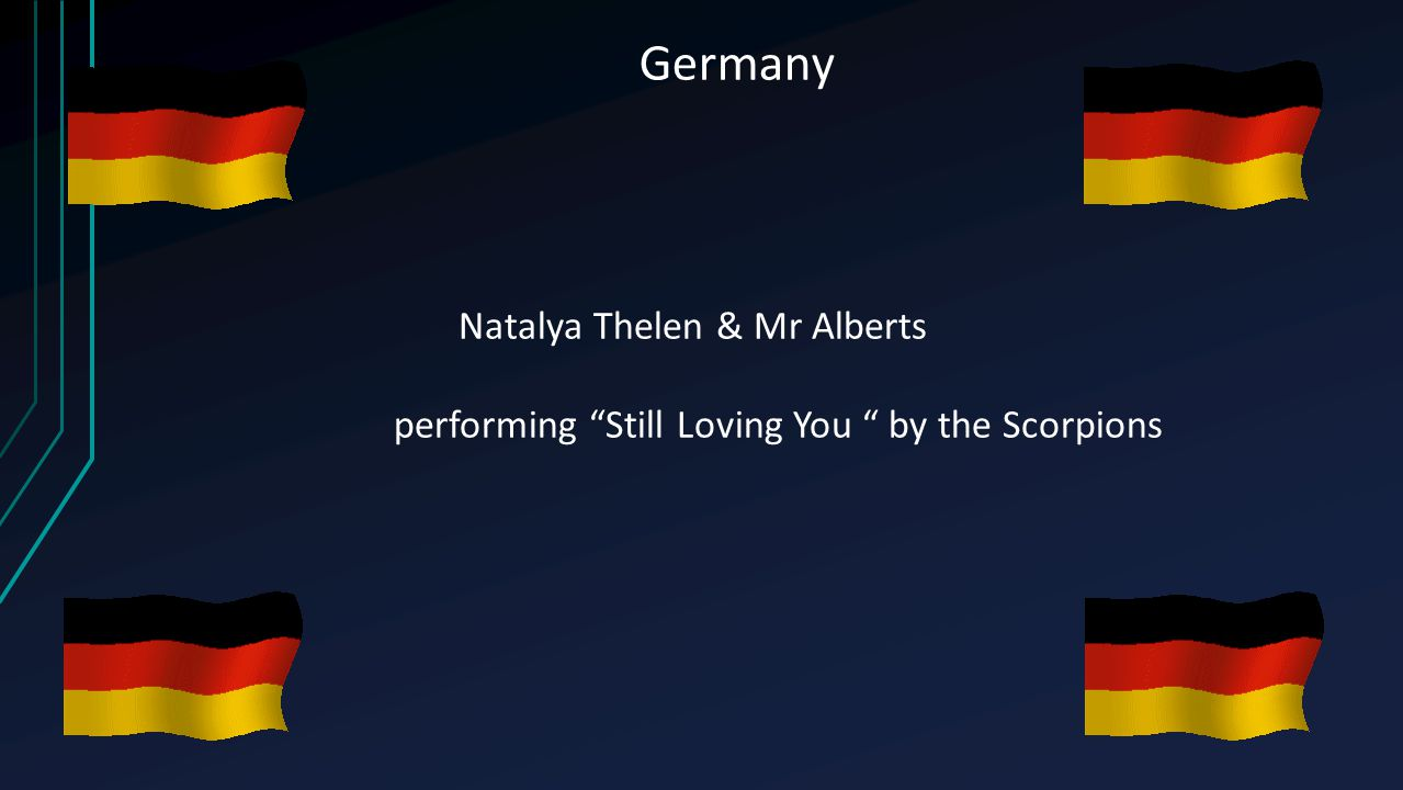 "Germany Natalya Thelen & Mr Alberts performing ""Still Loving You "" by the Scorpions"