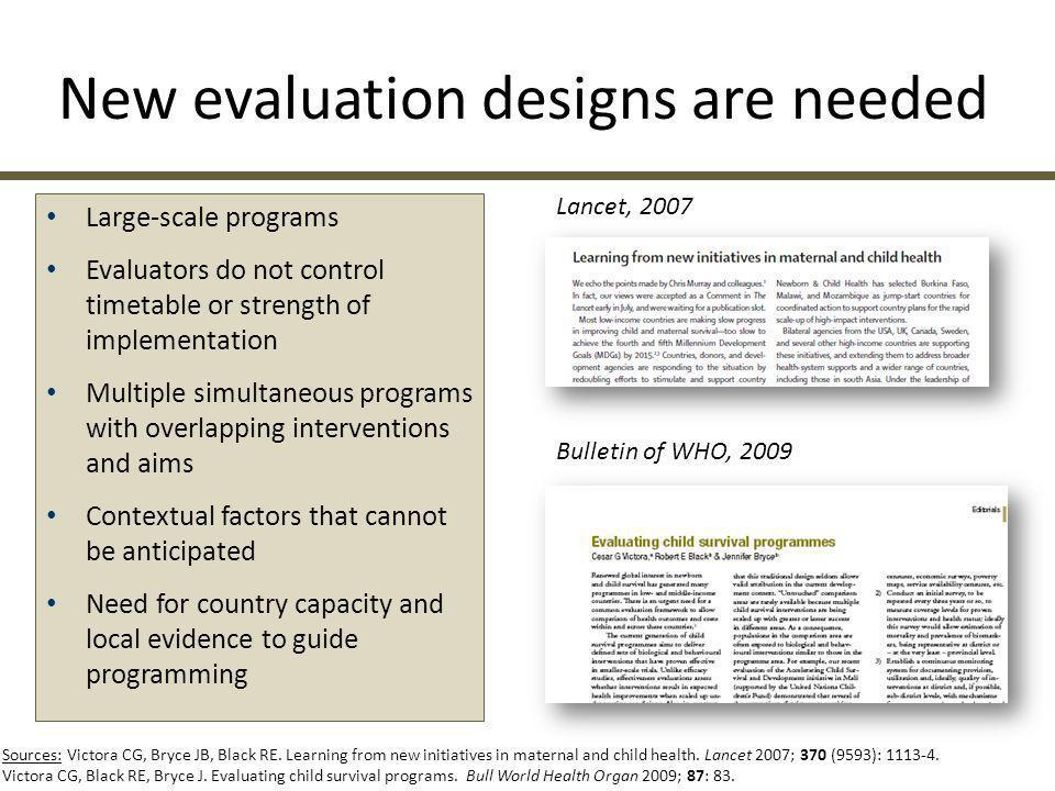 NATIONAL EVALUATION PLATFORMS: THE BASICS Lancet, 2011