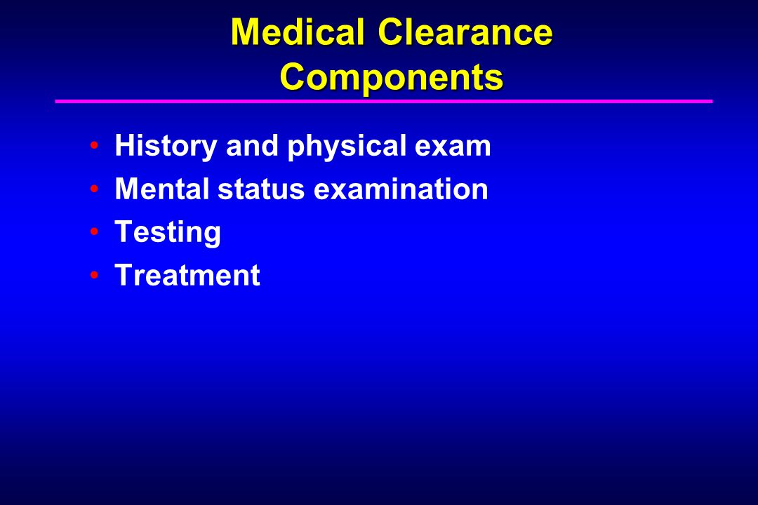 Evidence to Test 46% of psychiatric patients had unrecognized medical illness.