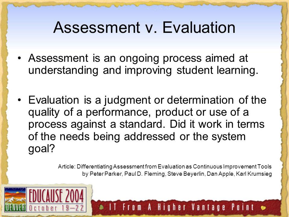 Assessment v.
