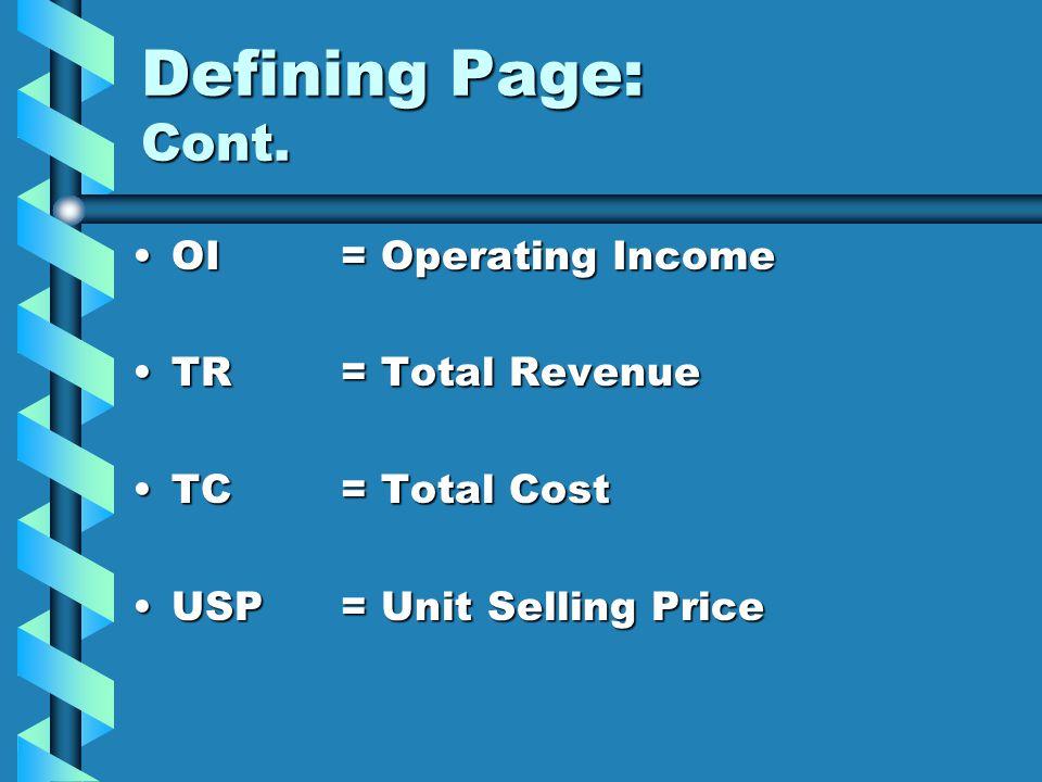 Part 1: Comparison Compare the two results to determine minimum quantity sold.Compare the two results to determine minimum quantity sold.
