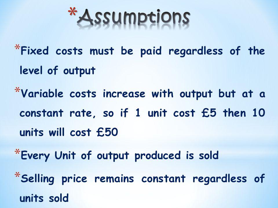 FIRST – work out BEQ * FC £480,000 per month. * VC: £60 per unit * Price: £120 per unit