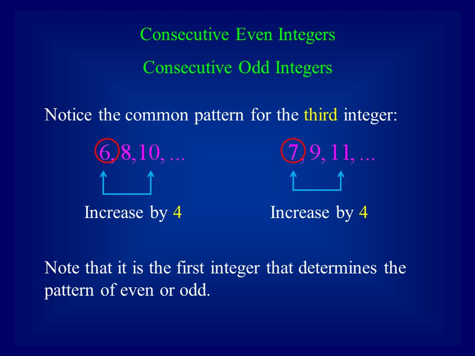 Assume that we are considering three consecutive even integers, or three consecutive odd integers, and do not know the first integer.