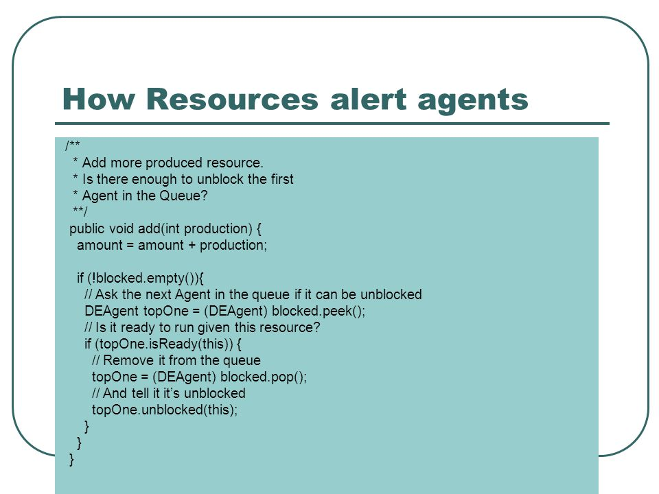 How Resources alert agents /** * Add more produced resource.