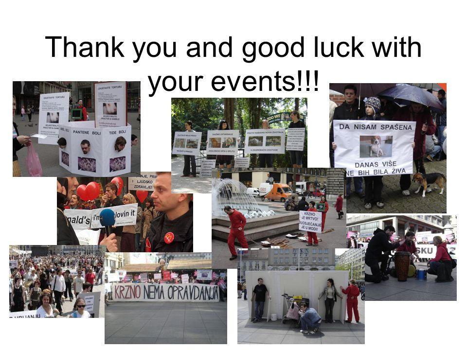 Thank you and good luck with your events!!!