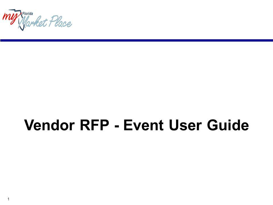 1 Vendor RFP - Event User Guide