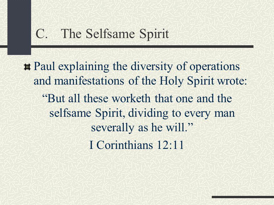 Spirit of FaithII Corinthians 4:13 Spirit of GraceZechariah 12:10, Hebrews 10:24 Spirit of GloryI Peter 4:14 Spirit of ProphecyRevelations 19:10 Spirit of ChristRomans 8:9 Examples of Good Spirits (cont)
