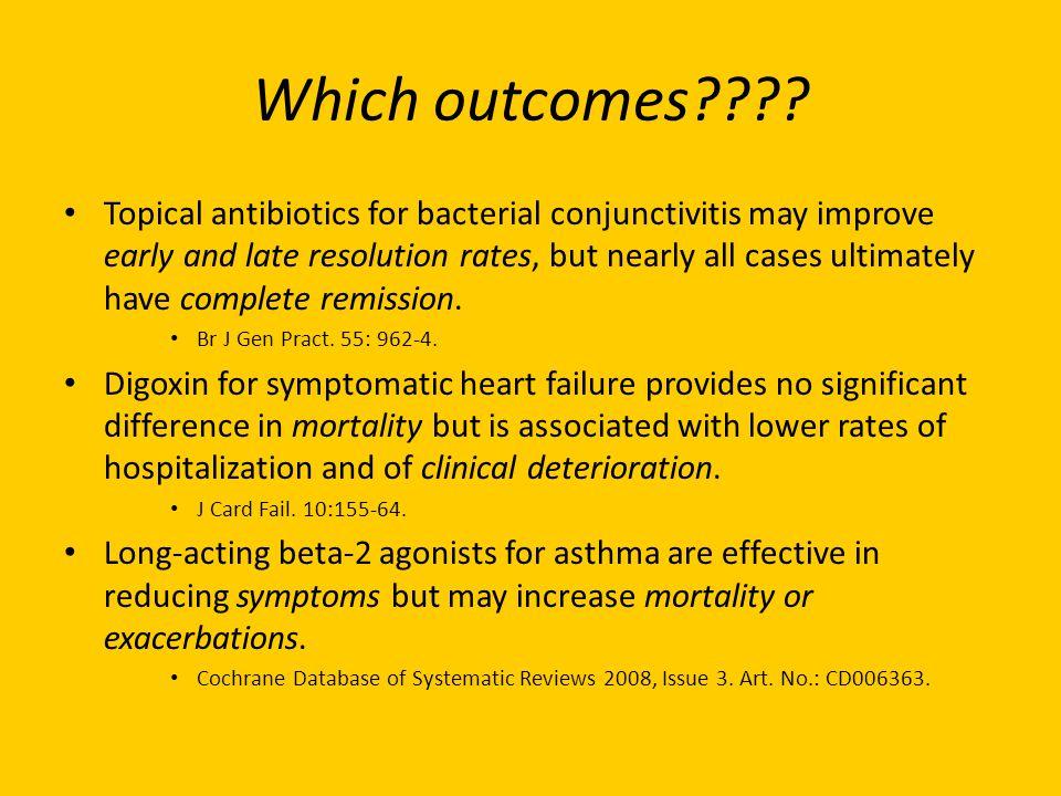 Which outcomes .