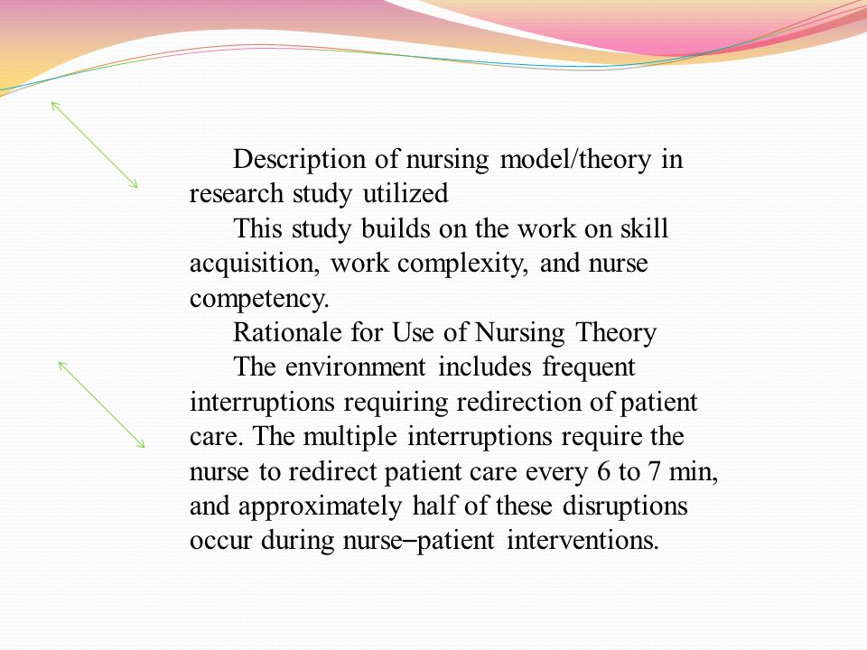 Practice Area of this Study A 23-item clinical ladder satisfaction scale Data was collected in 1993, 1994, 1996 and 1998 using standard survey methods Subjects were registered nurses holding clinical positions at the University of Colorado Hospital Primarily female respondent group, most on rotating shifts More than 55% working between 5 and 10 years at the hospital Sample nursing population was 56% BSN, 25% Associate Degree Nurse, 18% diploma 2% Masters of Science in Nursing