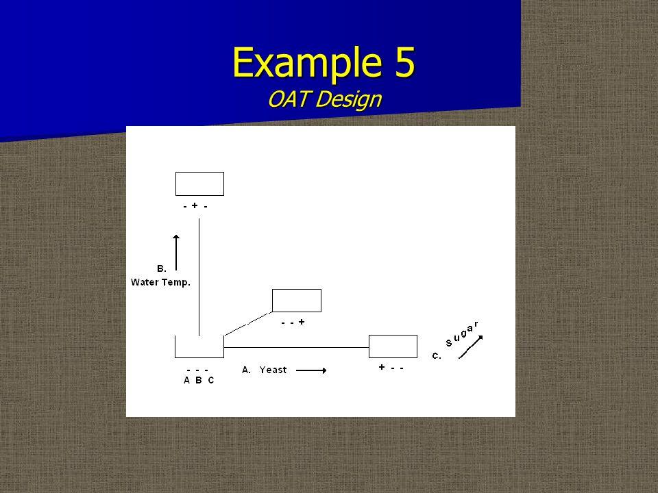 Example 5 OAT Design