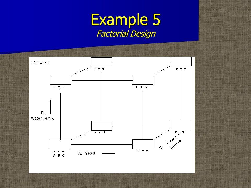 Example 5 Factorial Design