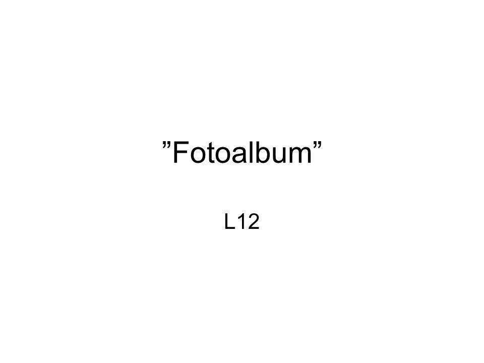"""""""Fotoalbum"""" L12"""