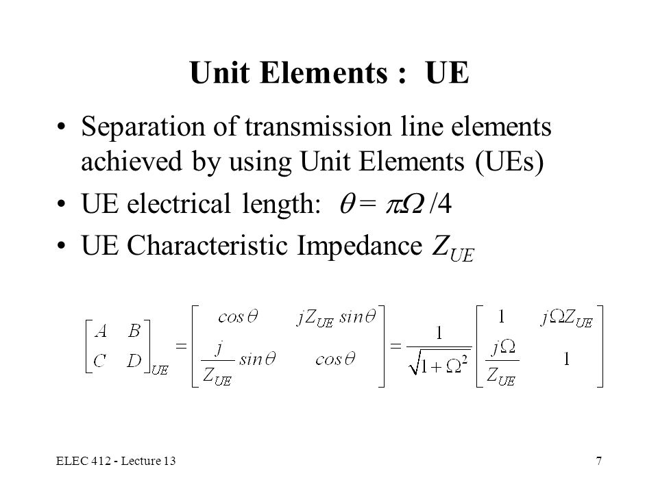ELEC 412 - Lecture 138 The Four Kuroda's Identities
