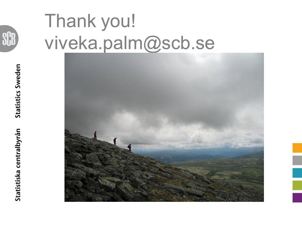 Thank you! viveka.palm@scb.se