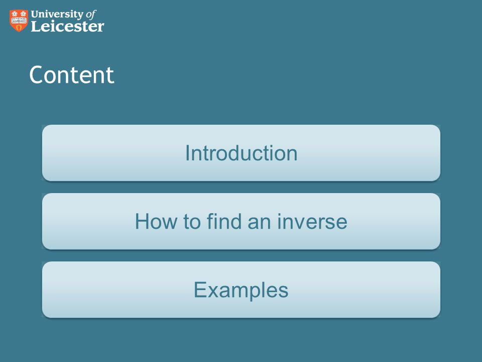 Question How to find an Inverse ExamplesIntroduction