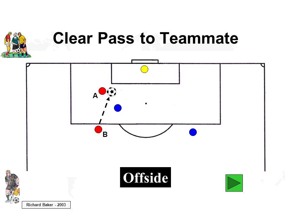 Richard Baker - 2003 Clear Pass to Teammate B A Offside