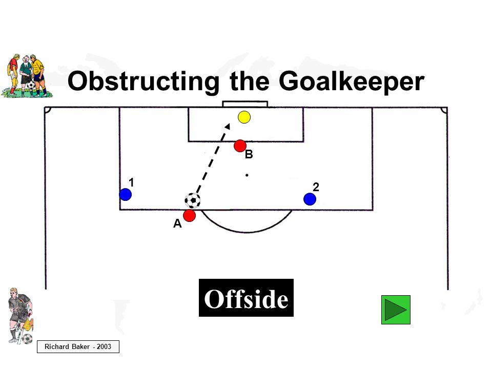 Richard Baker - 2003 Obstructing the Goalkeeper B A 1 2 Offside