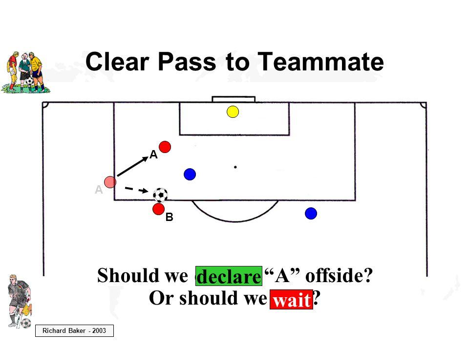 Richard Baker - 2003 Should we declare A offside.