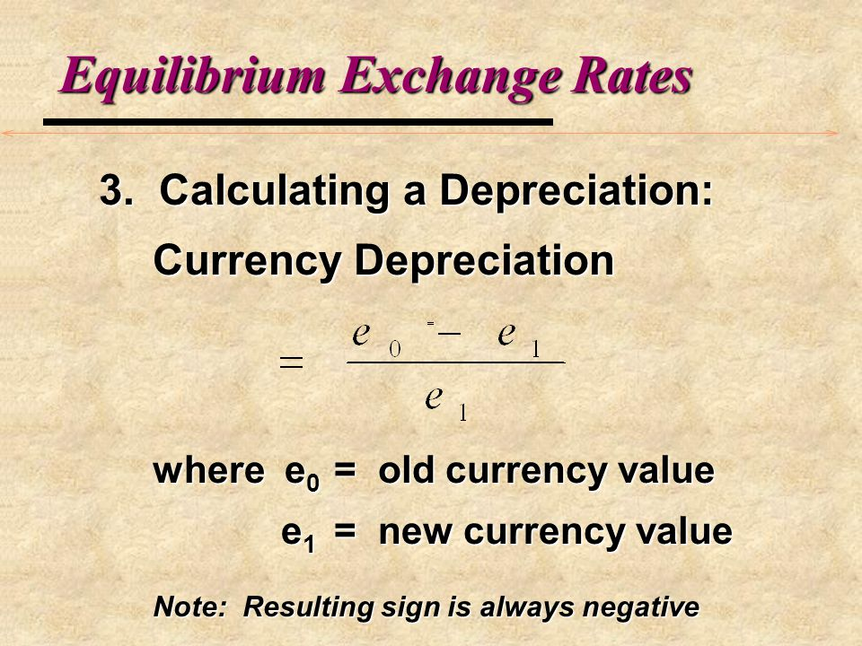 Equilibrium Exchange Rates 2. Home Currency Depreciation a.