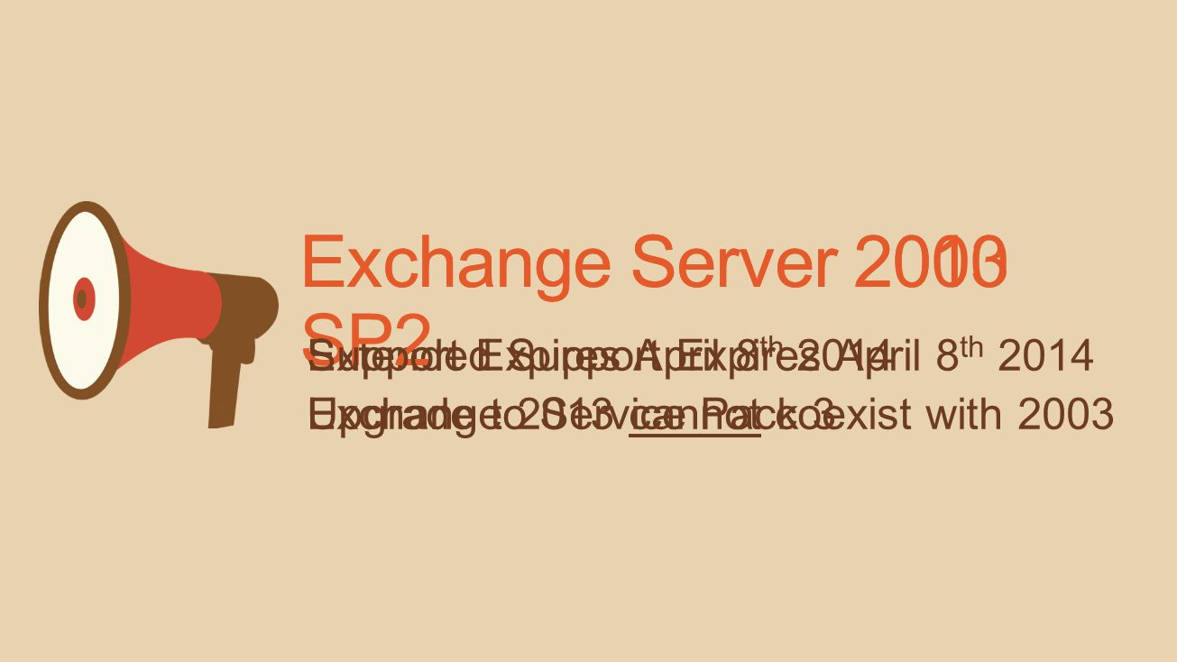 Preparing for Exchange Server 2013 Outlook Recommendations Office 365 ProPlus – Current bits Outlook 2013– SP1 & latest public update recommended Outl