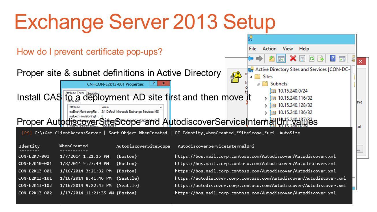 Exchange Server 2013 Setup