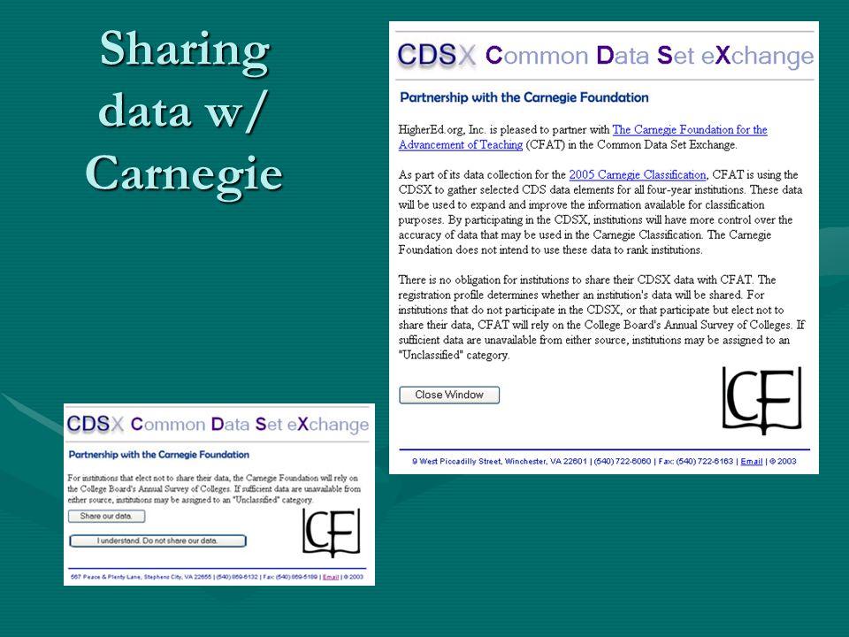 Sharing data w/ Carnegie