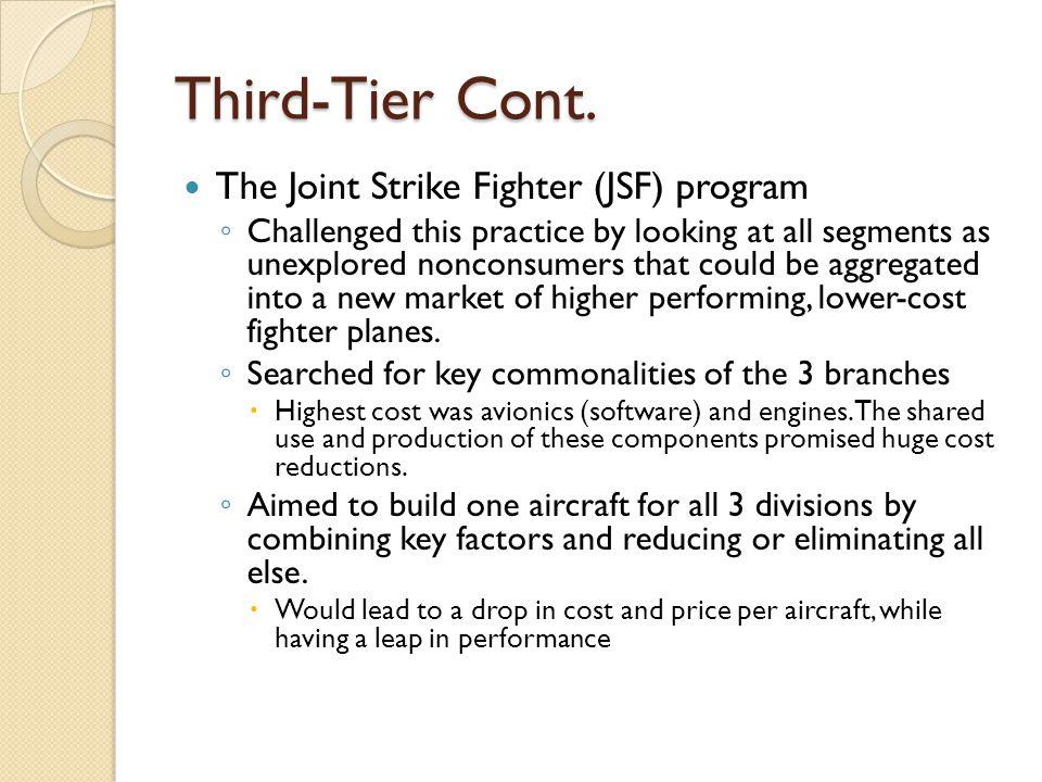 Third-Tier Cont.