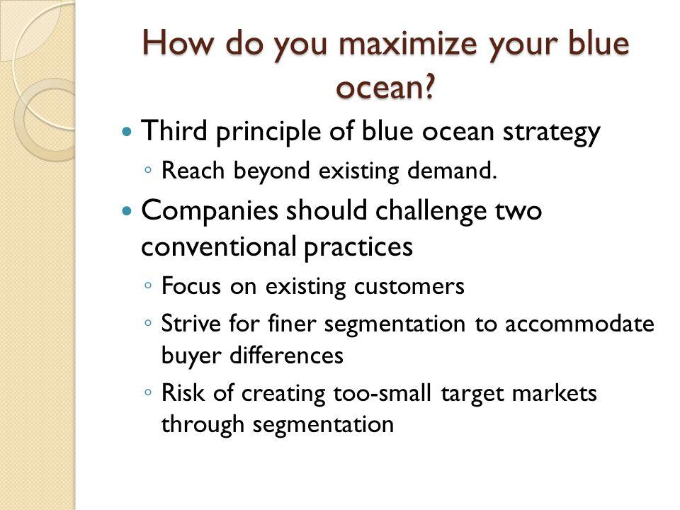 How do you maximize your blue ocean.