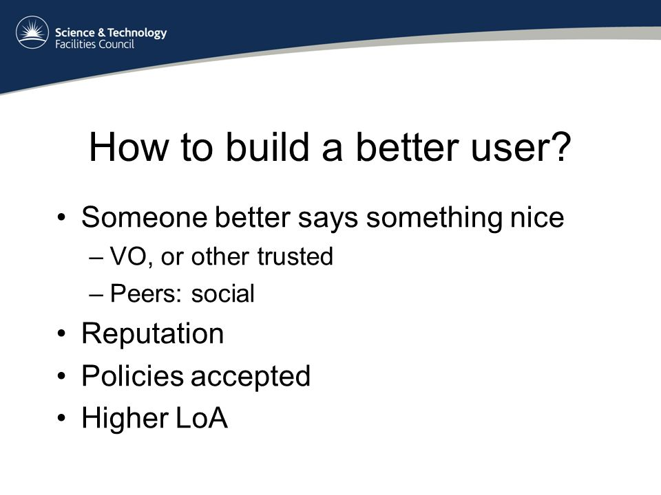 How to build a better user.