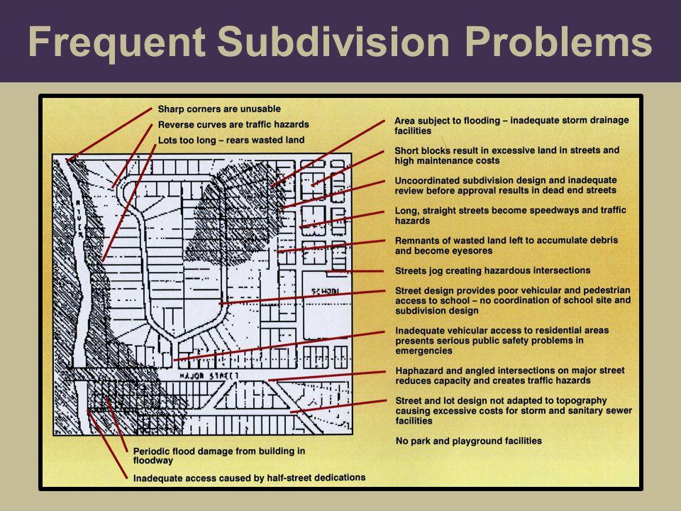 Frequent Subdivision Problems