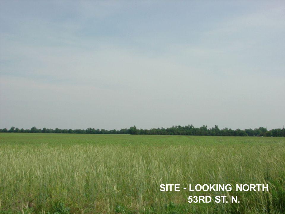 SITE - LOOKING NORTH 53RD ST. N.