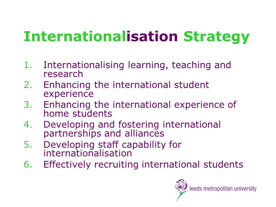 Internationalisation is not an optional extra marketing rationale benchmark institutions student integration student retention reputation doing right by our students best hope