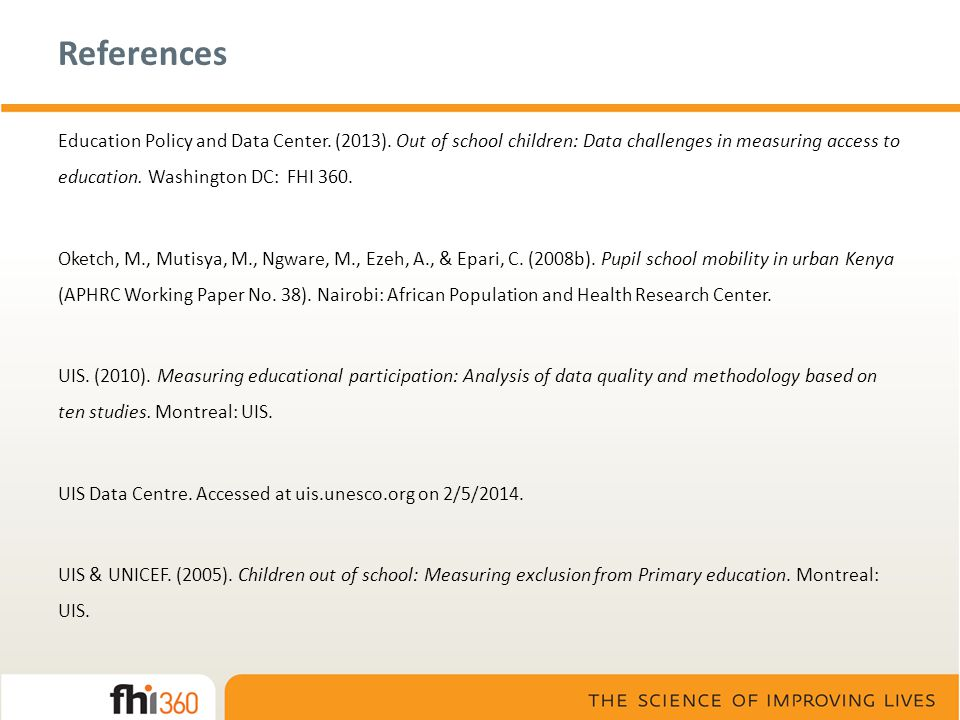 References Education Policy and Data Center. (2013).