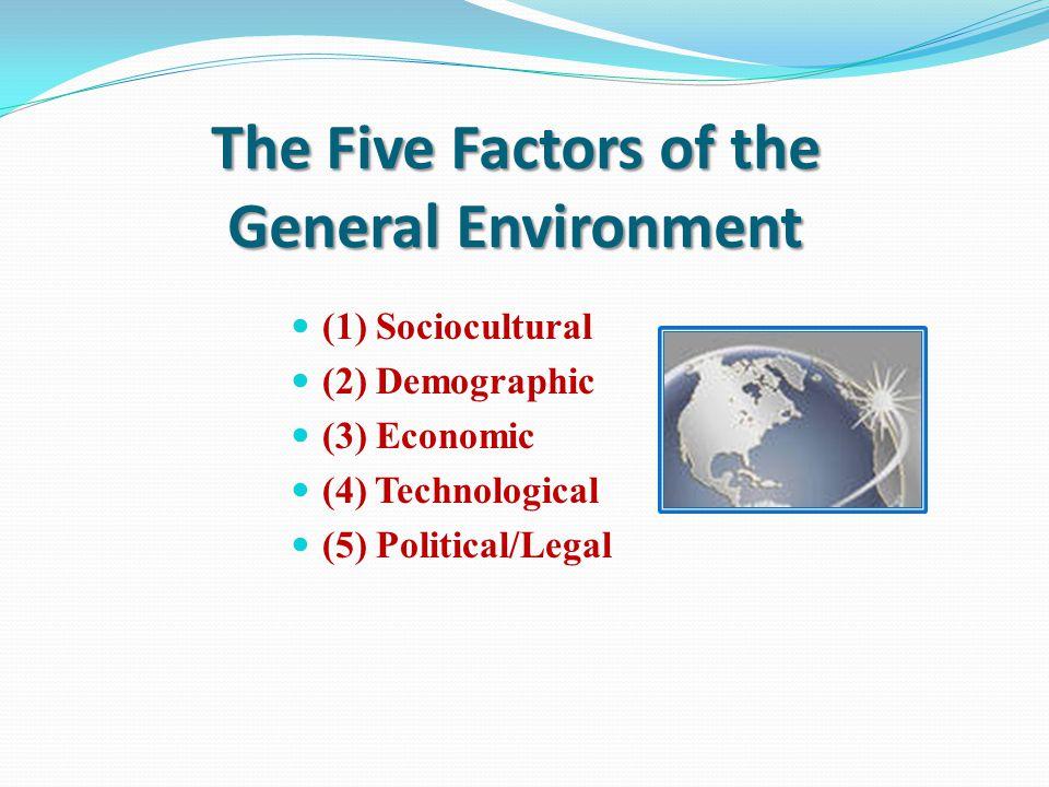 The General Environment External Environment General Environment Competitive Environment