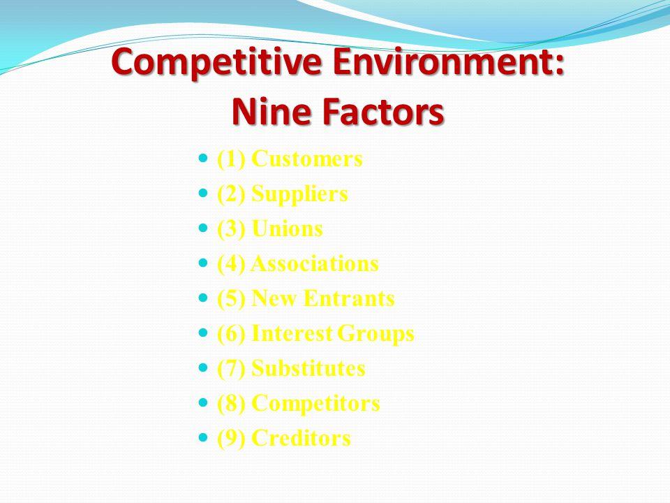 External Environment General Environment Competitive Environment The Competitive Environment