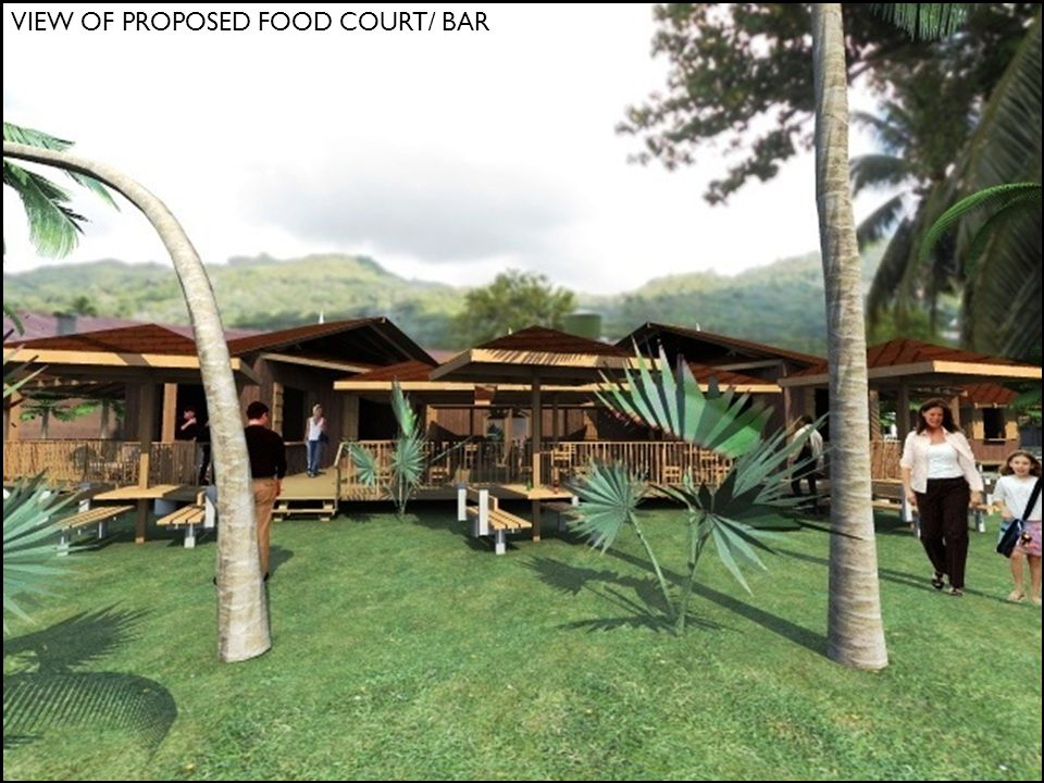 VIEW OF PROPOSED FOOD COURT/ BAR