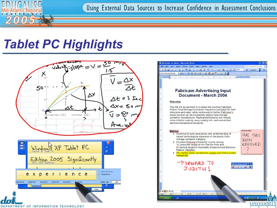 Tablet PC Highlights