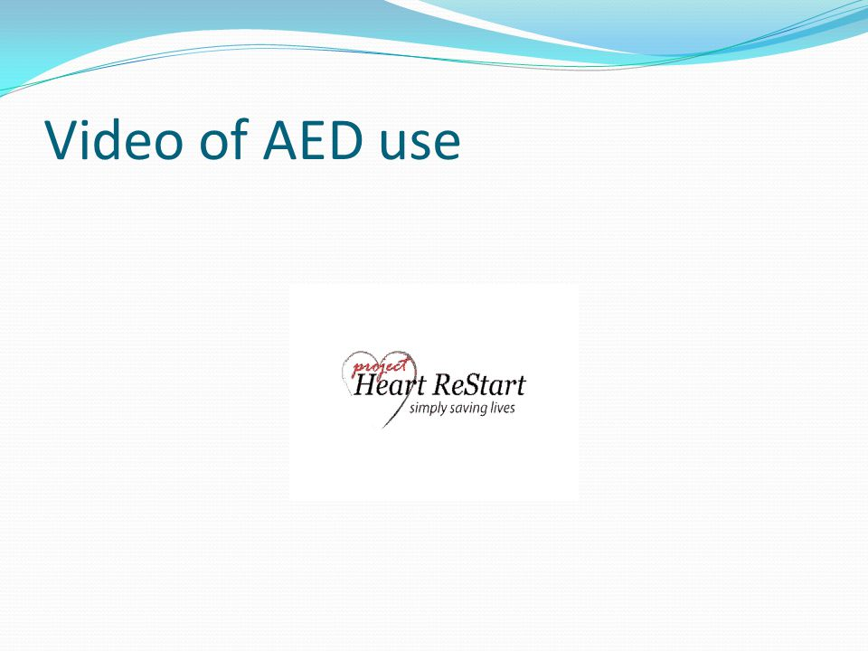 Video of AED use