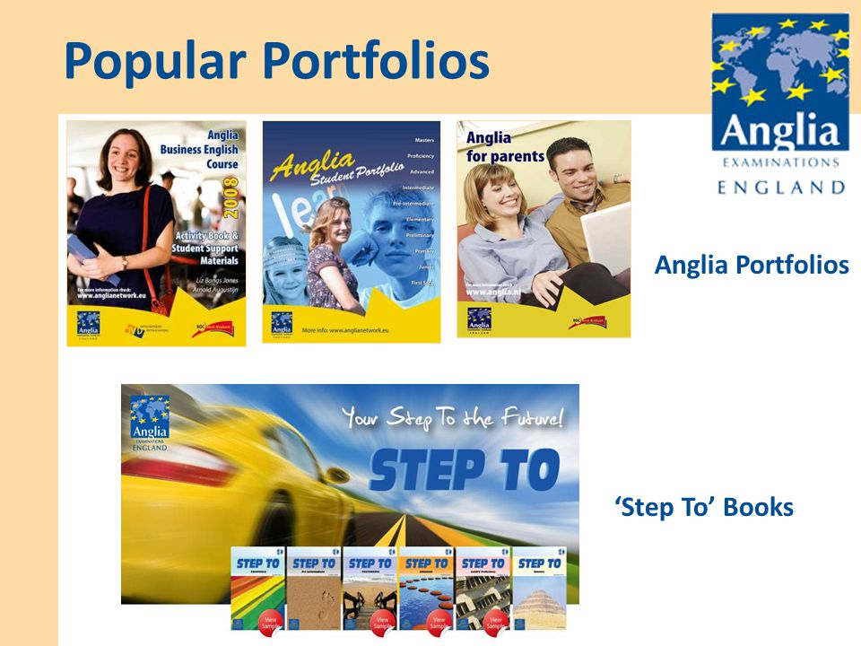 Popular Portfolios 'Step To' Books Anglia Portfolios