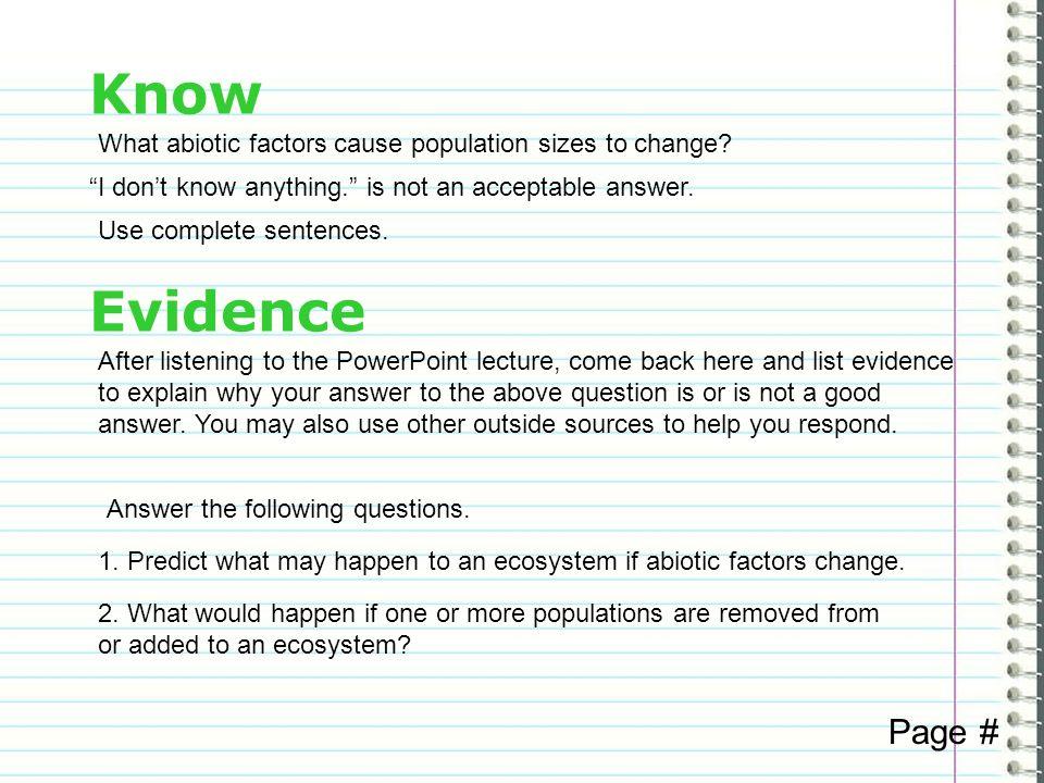 Abiotic Factors That Affect Populations Gaiser Life Science