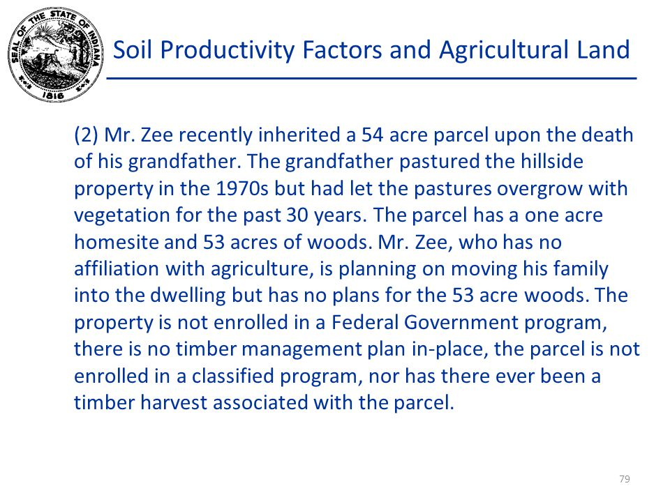 Soil Productivity Factors and Agricultural Land (2) Mr.